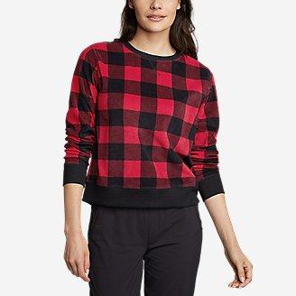 Women's Quest Fleece Sweatshirt - Print in Red
