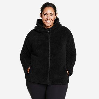Women's Quest Plush Full-Zip Hoodie in Black