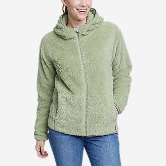 Women's Quest Plush Full-Zip Hoodie in Green