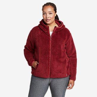 Women's Quest Plush Full-Zip Hoodie in Red