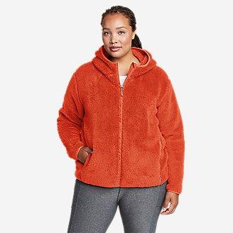 Women's Quest Plush Full-Zip Hoodie in Orange