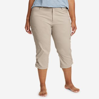 Women's Guide Pro Capris in Beige