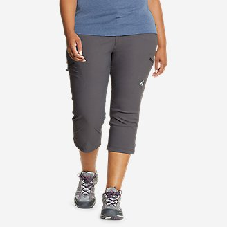 Women's Guide Pro Capris in Gray