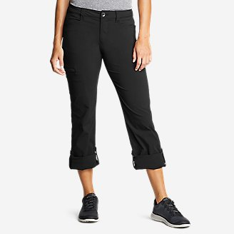 Women's Horizon Roll-Up Pants in Black