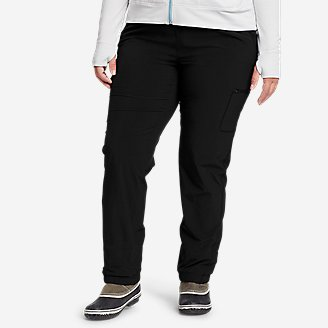 Women's Polar Fleece-Lined Pull-On Pants in Black