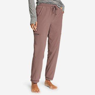 Women's Polar Fleece-Lined Pull-On Pants in Purple