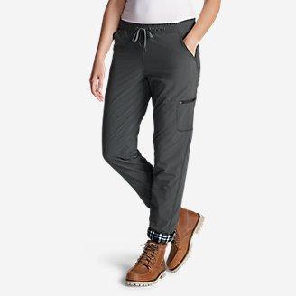 Women's Polar Fleece-Lined Pull-On Pants in Gray
