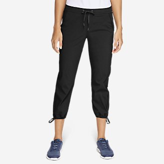 Women's Horizon Pull-On Capris in Black