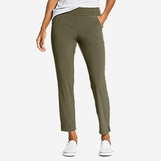Women's Departure Ankle Pants in Green