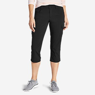 Women's Sightscape Horizon Cargo Capris in Black