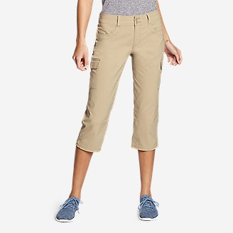 Women's Sightscape Horizon Cargo Capris in Beige