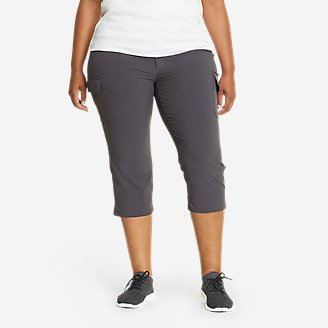 Women's Sightscape Horizon Cargo Capris in Gray