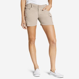 Women's Sightscape Horizon Cargo Shorts in Beige