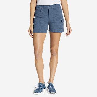 Women's Sightscape Horizon Cargo Shorts - Print in Blue