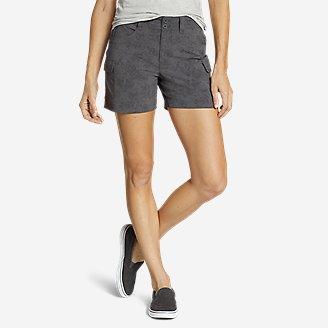 Women's Sightscape Horizon Cargo Shorts - Print in Gray