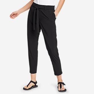 Women's Departure Slim Ankle Tie-Waist Pants in Black