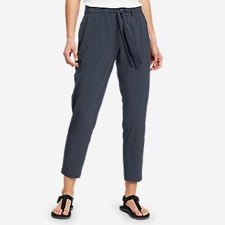 Women's Departure Slim Ankle Tie-Waist Pants in Blue