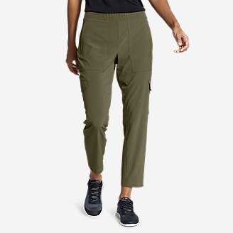 Women's Departure Cargo Ankle Pants in Green