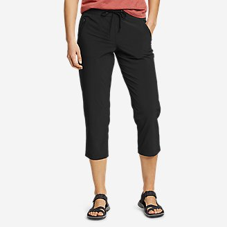 Women's Departure Pull-On Crop Pants in Black