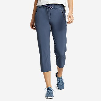 Women's Departure Pull-On Crop Pants in Blue