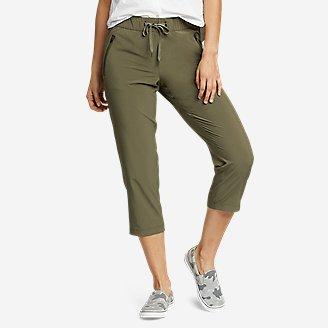 Women's Departure Pull-On Crop Pants in Green