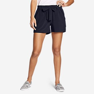 Women's Departure High-Rise Mesh-Inset Shorts in Blue