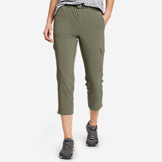 Women's ClimaTrail Cargo Crop Pants in Green