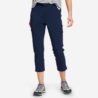 Women's ClimaTrail Cargo Crop Pants in Blue