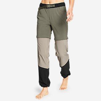 Women's ClimaTrail Zip-Off Pants - Color Block in Green