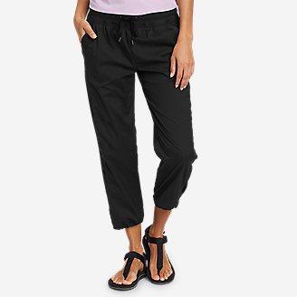 Women's Trail Breeze Crop Pants in Black
