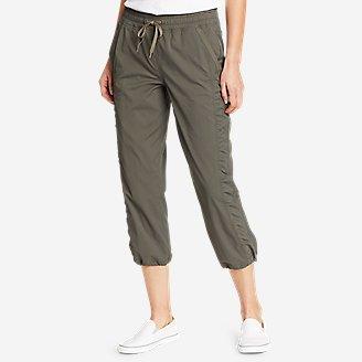 Women's Trail Breeze Crop Pants in Green
