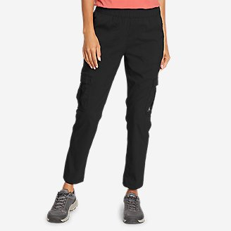 Women's Guide Ripstop Cargo Ankle Pants in Black