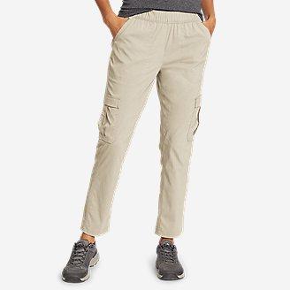 Women's Guide Ripstop Cargo Ankle Pants in Beige