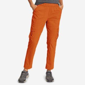Women's Guide Ripstop Cargo Ankle Pants in Orange