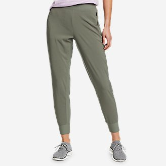 Women's Trail Tight Hybrid Joggers in Green