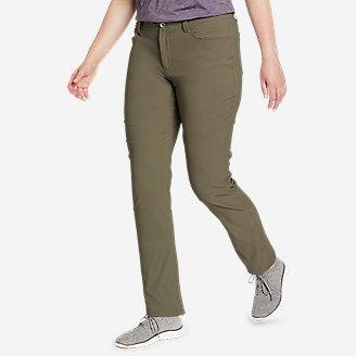 Women's Horizon Guide 5-Pocket Slim Straight Pants in Green