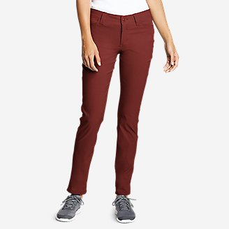 Women's Horizon Guide 5-Pocket Slim Straight Pants in Red