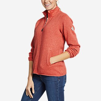 Women's Radiator Fleece Full-Zip Mock in Red