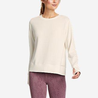 Women's Enliven Ultrasoft Long-Sleeve Sweatshirt in White