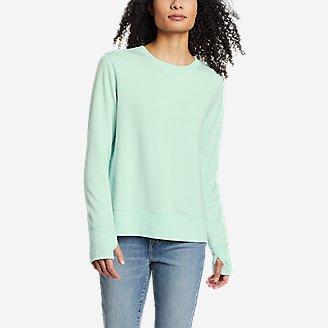 Women's Enliven Ultrasoft Long-Sleeve Sweatshirt in Green
