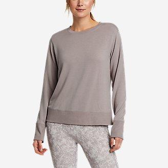 Women's Enliven Ultrasoft Long-Sleeve Sweatshirt in Gray