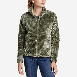 Women's Alpine Plush Full-Zip Jacket in Green