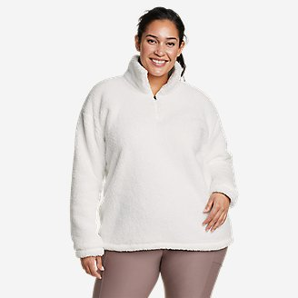 Women's Quest Plush 2.0 1/4-Zip in White