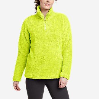 Women's Quest Plush 2.0 1/4-Zip in Green