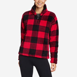 Women's Quest Plush 2.0 1/4-Zip - Print in Red
