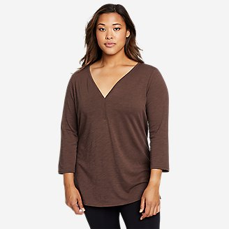 Women's Gate Check 3/4-Sleeve Tunic in Green