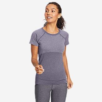 Women's Resolution Seamless Short-Sleeve Crew T-Shirt in Purple