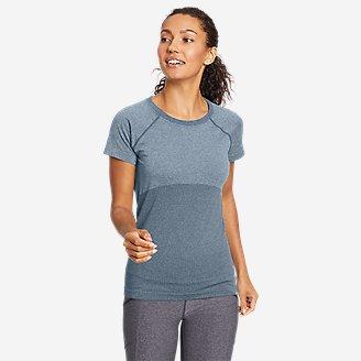 Women's Resolution Seamless Short-Sleeve Crew T-Shirt in Blue