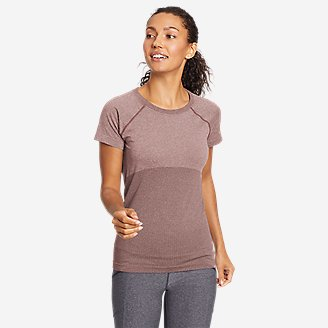 Women's Seamless Short-Sleeve Crew T-Shirt in Pink