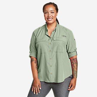 Women's Guide UPF Long-Sleeve Shirt in Green